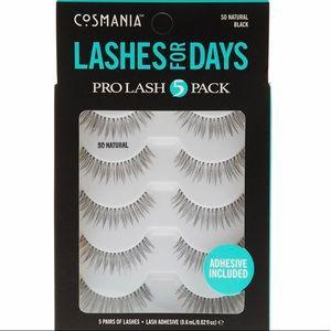 Other - COSMANIA Pro Lash 5 Pack Natural Lashes, NIB